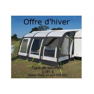 Auvent gonflable KAMPA Motor Rally Air Pro 390XXL pour camping car