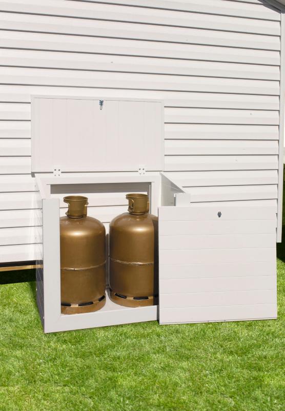 coffre gaz pvc clarval pour deux bouteilles. Black Bedroom Furniture Sets. Home Design Ideas