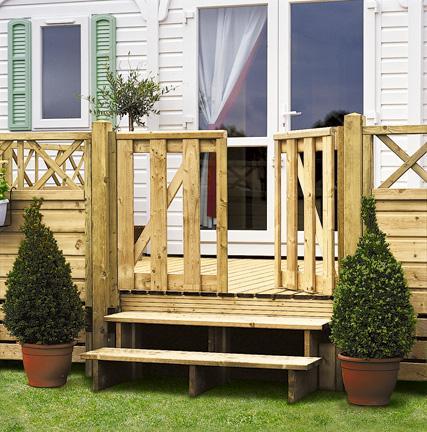 Portillon estival clairval pour terrasse de mobil 39 home for Portillon terrasse