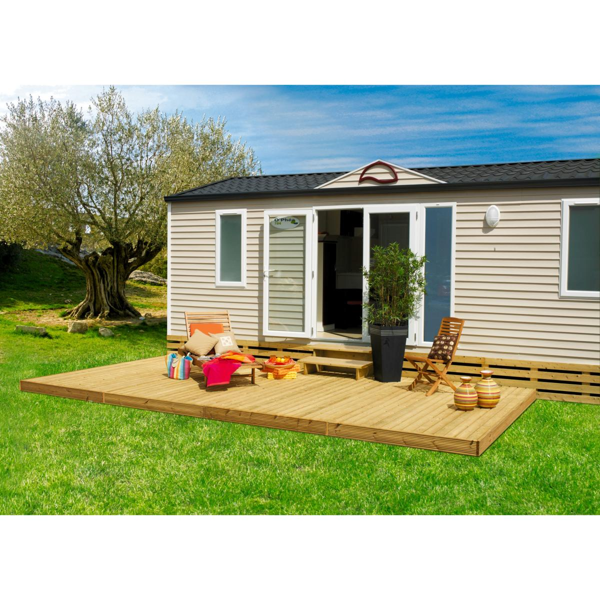 terrasse clairval de mobil 39 home calvi 3m. Black Bedroom Furniture Sets. Home Design Ideas