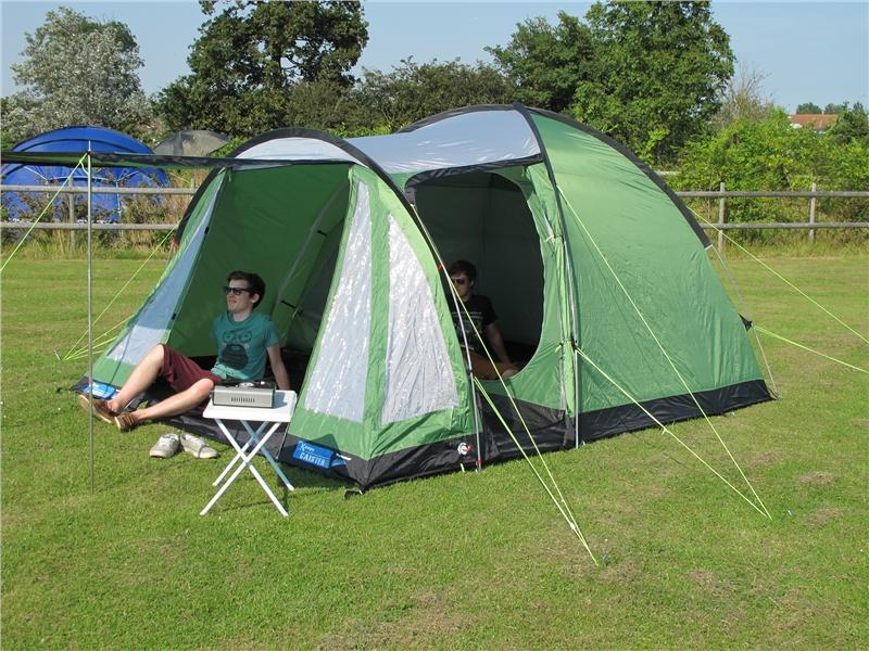 toile de tente de camping kampa caister 5 places tente. Black Bedroom Furniture Sets. Home Design Ideas
