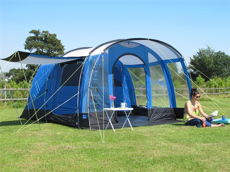 Toile de tente de camping kampa hayling 4 places tente for Tente 2 chambres 4 places