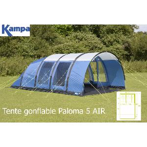TENTE KAMPA GONFLABLE PALOMA 5 AIR